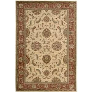 Living Treasures Collection Traditional Ivory and Red Wool