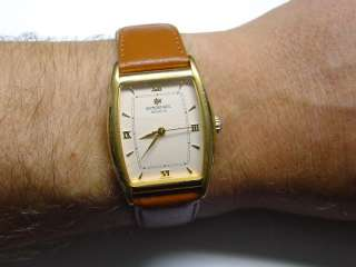 RAYMOND WEIL GENEVE TONNEAU SWISS WATCH 18k Gold Plated