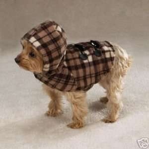 &Zoey BROWN Plaid Fleece Dog Yukon Coat Jacket SML