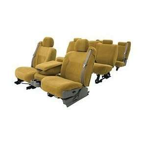 Coverking Velour Custom Fit Seat Covers   Beige, Front Row