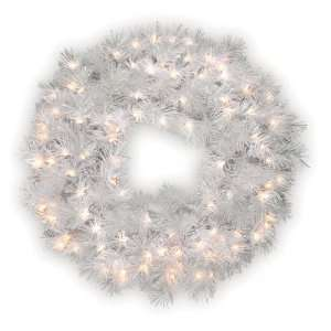 National Tree Company   30 Wispy Willow Grande White Wreath