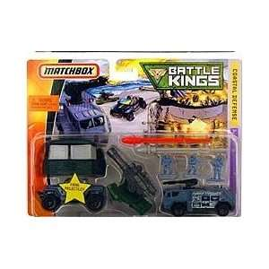 Matchbox Battle Kings Coastal Defense Playset Military Toys & Games