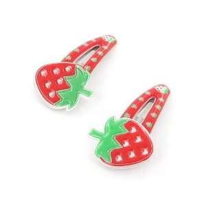 Toddler/Girl Cute Strawberry Design Hair Clip (6179 5) Toys & Games