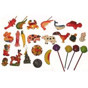 Made Decorative Colorful Animal and Food Fridge Magnets 1.25 3.5h