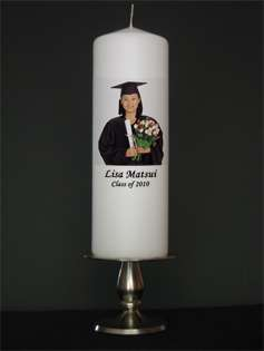 Personalized Custom School Graduation Candle Photo Gift