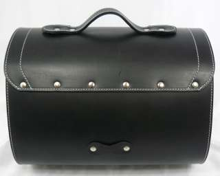 Leather Top Case Roll Bag Piaggio Vespa PX LX LXV GTS GTV Scooter