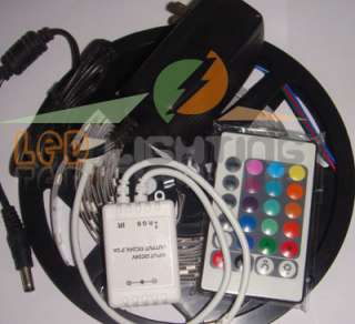 500cm RGB Flexible LED Strip Light + controller +power