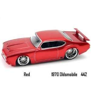Jada Dub City Big Time Muscle Red 1970 Oldsmobile 442 164
