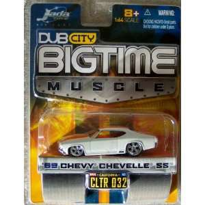Jada Dub City Big Time Muscle White W/Orange Stripes 69