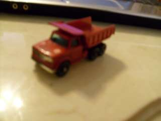 LESNEY MATCHBOX #48 RED DODGE DUMPER TRUCK 1967 NICE ^