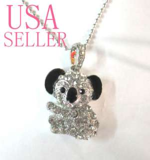 Koala Crystal pendant USB Flash Drive Memory Stick Necklace