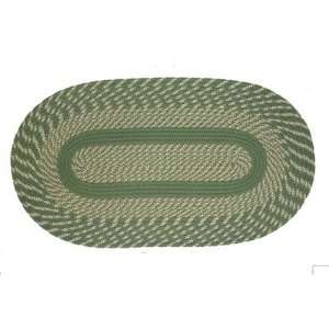 ITM CA 667 Cambridge Sage Green Braided Rug Size Oval 26