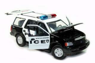 FORD EXPEDITION XLT METRO POLICE DEPT DIE CAST 1/24 NEW