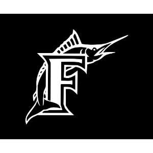 Florida Marlins LARGE 10 WHITE vinyl decal sticker