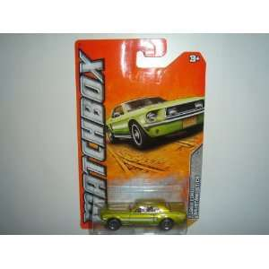 2012 Matchbox Old Town Series 1968 Ford Mustang GT/CS Lime