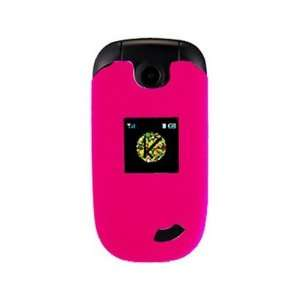 Phone Protector Cover Case Hot Pink For Cricket CAPTR II Cell Phones