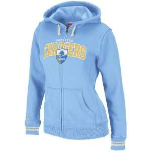 San Diego Chargers Womens Mitchell & Ness Light Blue Arch