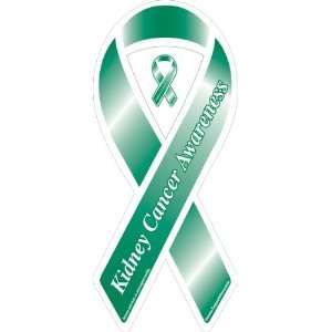 Kidney Cancer Awareness Green Ribbon Magnet   Set of 125