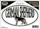 German Shepherd Dog Oval Decal. Great Decal for proud dog owners
