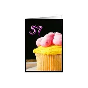 Happy 57th Birthday muffin Card Toys & Games
