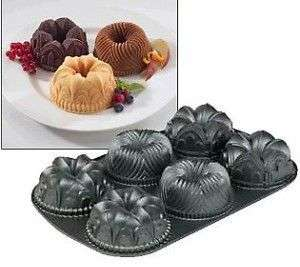 NORDICWARE 54737 MINI GARLAND 6 CUP BUNDT CAKE PAN