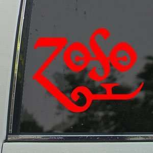 Led Zeppelin Red Decal Page Rock Band Window Red Sticker