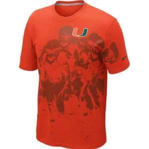 Miami Hurricanes Orange Nike 2012 Gridiron Football Team Issue T Shirt