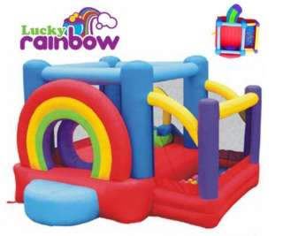 NEW LUCKY RAINBOW INFLATABLE BOUNCE HOUSE Bouncer Slide