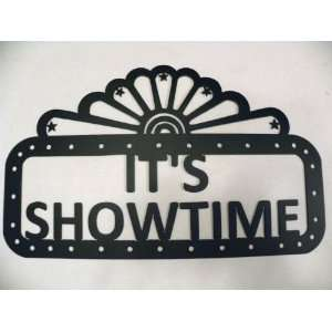 Home Theater Marquee Its Showtime Metal Wall Art Decor