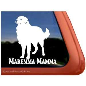 Maremma Mamma ~ Maremma Sheepdog Vinyl Window Auto Decal