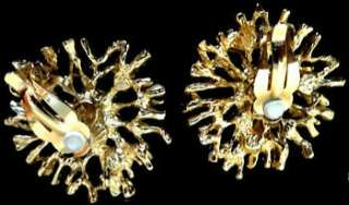 Kenneth Jay Lane REGAL RICHES StarBurst Crystal EARRINGS KJL Avon