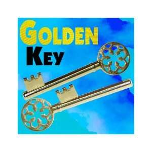 Golden Key Brass Close Up Magic Instant Trick Illusions