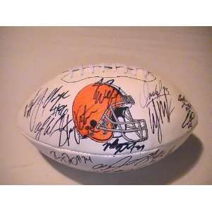 TEAM SIGNED AUTOGRAPHED FOOTBALL COLT MCCOY , JOE HADEN COA + HOLOGRAM
