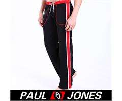 Soft New Mens Stripe Tracksuit Bottoms Jogging Trousers Sports Pants