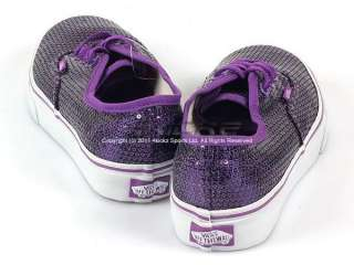 Vans Authentic (Glitter Dots) Purple Sequins Casual Classic 2011 Low