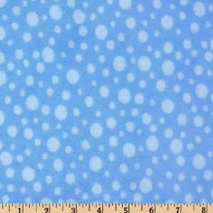 60 Wide Minky Cuddle Dot Baby Blue Fabric By The Yard