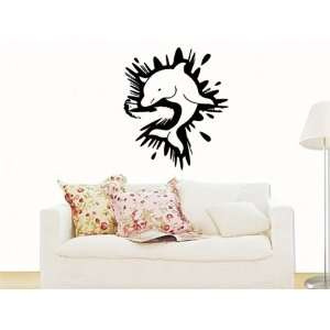 Wall Mural Vinyl Decal Stickers Animals Dolphin Urban Graffiti