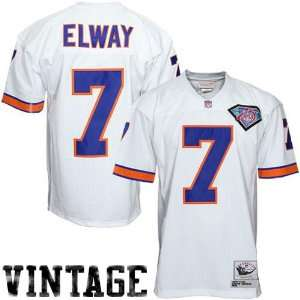 John Elway White 1994 Throwback Football Jersey