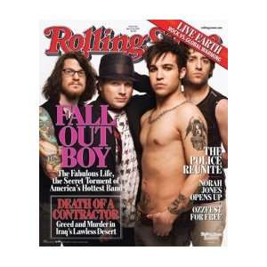 FALL OUT BOY Rolling Stone Cover Music Poster