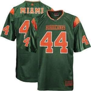 Miami Hurricanes #44 Green Rivalry Football Jersey