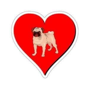 Pug Love   Window Bumper Sticker Automotive