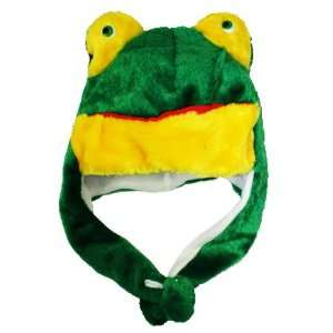 GREEN FROG Ski Hat Animal Hat Fleece lined