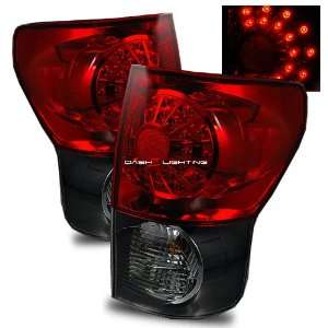 07 10 Toyota Tundra LED Tail Lights   Red Smoke