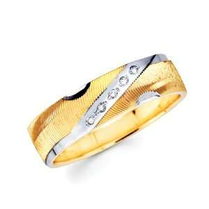 14K 2 Two Tone Gold Round Diamond Mens Engagement Wedding