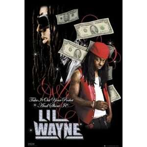 Lil Wayne Dollars Urban Hip Hop Rap Music Poster 24 x 36