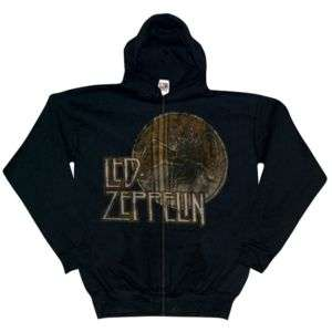Led Zeppelin   Circle Swan Zip Hoodie   2X Large