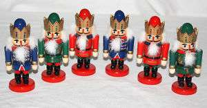 Kurt Adler Wooden Nutcrackers Mouths Open 4 1/2 NIOP