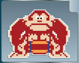 DONKEY KONG w/ Barrel vinyl decal Arcade Car Sticker