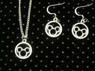 Disney mickey minnie mouse pair earrings 18 pendant FREE SHIP