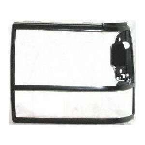 89 90 FORD BRONCO II HEADLIGHT DOOR LH (DRIVER SIDE) SUV, Black (1989